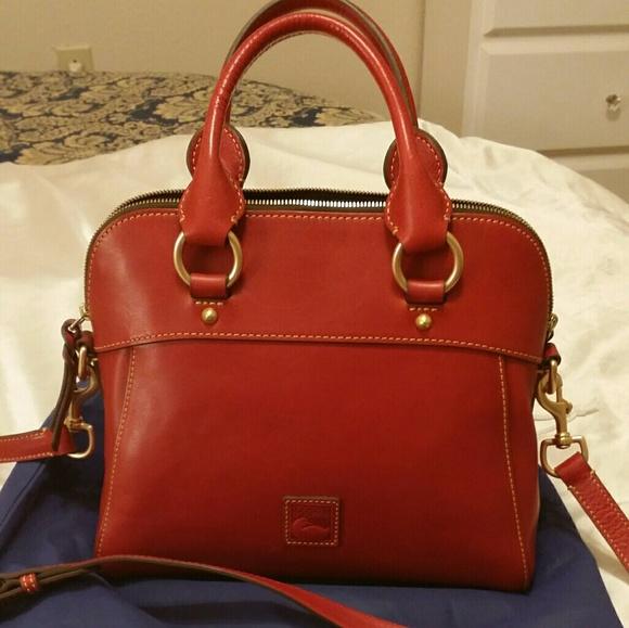 4cdd814b6 Dooney & Bourke Handbags - Dooney and Bourke Red Florentine Cameron Satchel